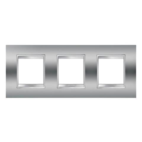 Рамка LUX International 2+2+2 хоризонтална - Chrome