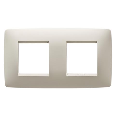 Рамка ONE International 2+2 хоризонтална - Ivory