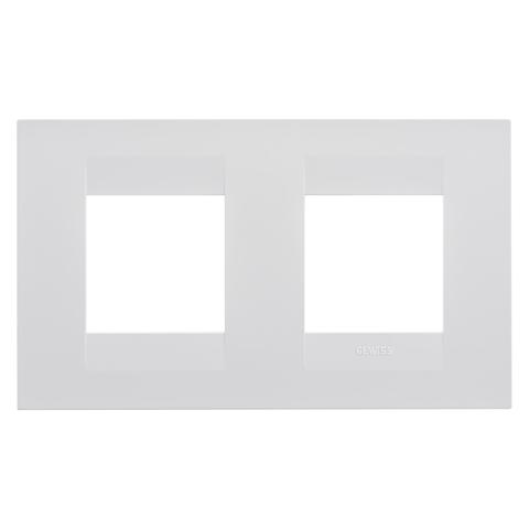 GEO International 2+2 gang horizontal plate - Milk White