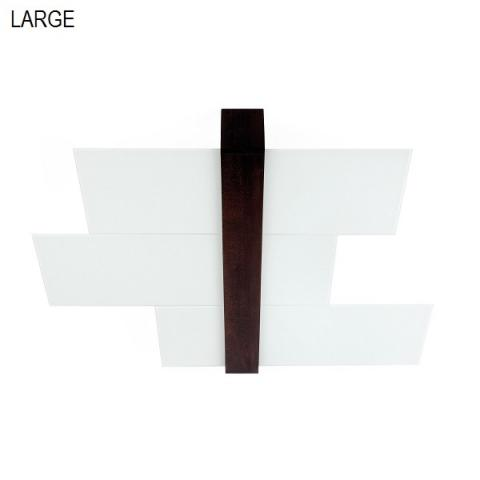 Ceiling light 88cm 3xE27 max 57W white-wood walnut
