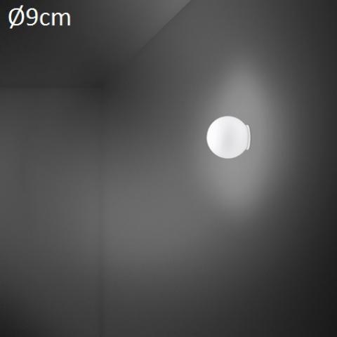 Wall/ceiling lamp Ø9cm G9 White
