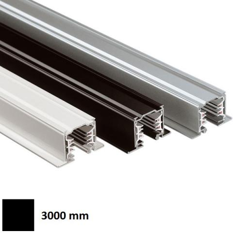 Трифазна релса LKM за вграждане 3m - черна