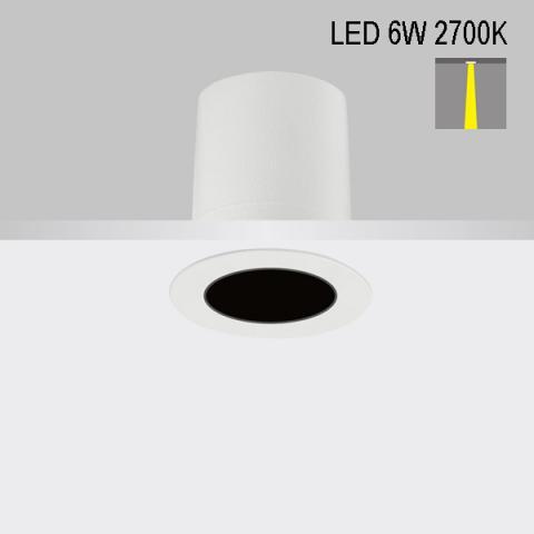 Downlight Perfetto-in 50 LED 6W 2700K 13°