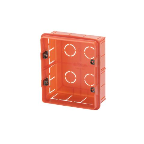 Rectangular box 3+3 gang for masonry walls italian standard