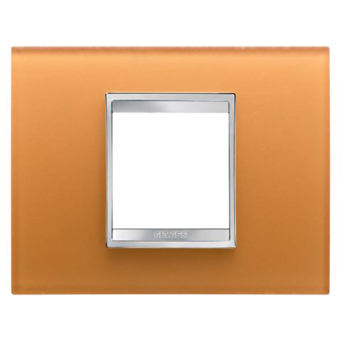 Рамка LUX 2 модула - стъкло - Ochre