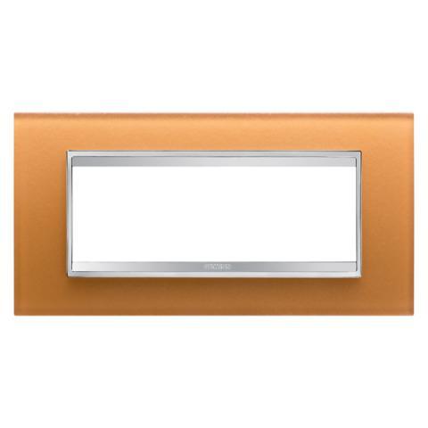 Рамка LUX 6 модула - стъкло - Ochre