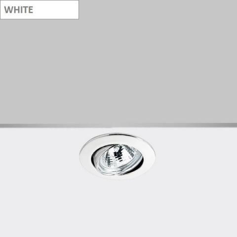 Tiltable downlight DECO GU10 white