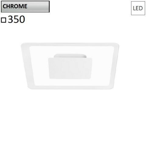 Wall/ceiling lamp 350x350 LED 19W chrome