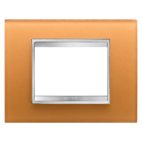 Рамка LUX 3 модула - стъкло - Ochre