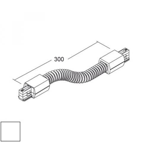 Flexible joint for LKM Round track - white