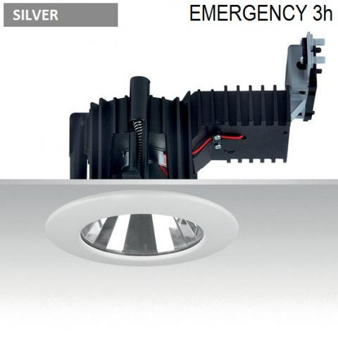 Downlight Ra 14 DIXIT LED Emergency 3h -  silver